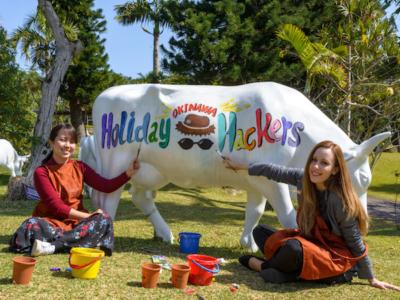 子連れ沖縄旅の方必見!観光スポットで楽しむ話題の「カウ・アート」をご紹介