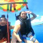 パラセーリング体験やマカロンを食べたり、沖縄北部をもっと体験!