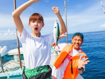 【Privileges are in the end】Advantageous set with popular outdoor activities on Okinawa! How to enjoy fishing + kayak + snorkeling in Blue Caves thoroughly in 1 day