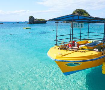 """""""位于从冲绳本岛开车可前往的离岛""""伊计岛!海水透明度超群的天然海滩!"""