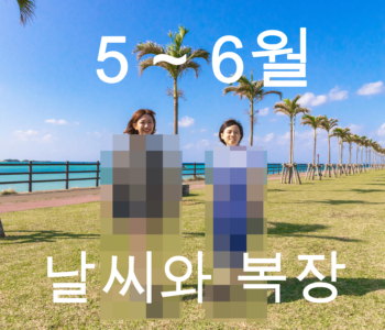 【5월~6월】오키나와 날씨와 옷차림 정보【남녀별】