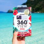 【5000엔 이내】스마트폰에 쉽게 장착할 수 있는 충전이 필요없는 360도 카메라! 오키나와 여행의 추억을 위한 편리템! 【KRAVAS 360° VIEW】