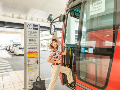 """【TESTING】Sightseeing northern areas without a car♪Departing Naha, day trips on the bus taking the """"Okinawa Airport Shuttle"""" 〜Visiting Onnason〜"""