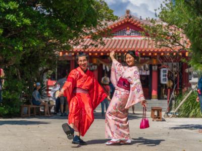 「ちゅら桜」で着付け体験!レンタル着物で沖縄散策はいかが!?