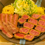 We went to Nikuya Shokudo (Restaurant) in Henza, where you can try a wide assortment of high quality, domestically produced beef in Okinawa.
