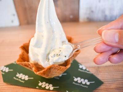 【新感覚!】プチプチ感がやみつきに!海ぶどう入りソフトクリーム