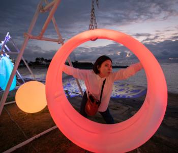 等不及開海的時間啦!空手BBQ和欣賞夜間燈飾「沖繩Night beach in 北谷」♪